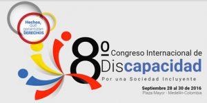 logo del 8º congreso internacional de discapacidad