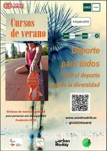cartel del curso  de verano deporte para todos