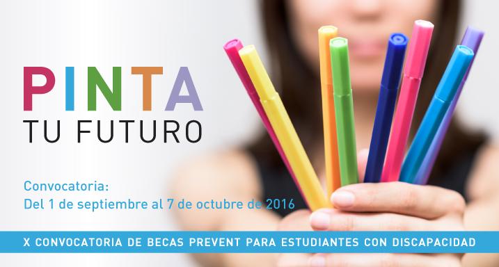 cartel donde aparaec una persona con rotuladores de distintos colores en la mano y el texto PINTA TU FUTURO